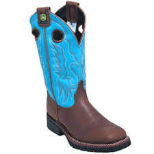 s deere boots sale deere boots s turquoise jd3766 slip resistant pull on