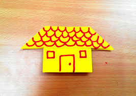how to make an origami house step by step youtube