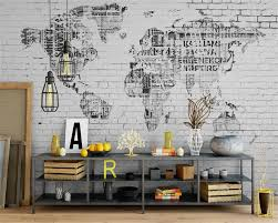 online buy wholesale photo brick wall from china photo brick wall beibehang photo wall mural wallpaper retro world map brick wall background wall abstract art painting wall
