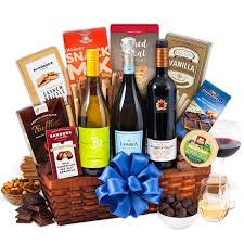 wine gift basket ideas vineyard tour trio wine gift basket by gourmetgiftbaskets