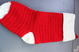 how to crochet christmas stocking cuff youtube