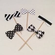 black tie party favors tutorial bow tie cupcake topper craft party supplies party