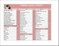 ms excel wedding organize checklist template formal word templates