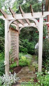 Rose Trellis Plans Best 20 Wood Arbor Ideas On Pinterest Garden Arbor Arbors And