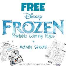 free disney u0027s frozen activity u0026 coloring sheets