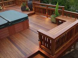 Wood Bench Designs Decks by A Redwood Bench With Backs Built In A U Shape For Wonderful Area
