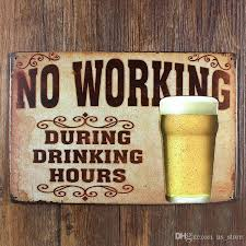 about drinking and beer ua 0123 metal painting vintage tin signs