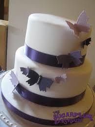 Simple 2 Tier Butterfly Wedding Cake Cake By Sam Harrison