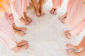 diy barefoot sandals for a beach wedding