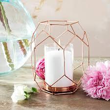 copper rose gold geometric candle holder lantern by made with love copper rose gold geometric candle holder lantern