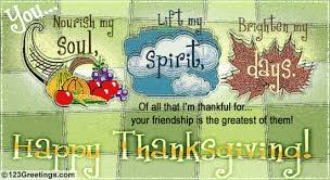 you brighten my thanksgiving day free friends ecards greeting