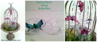 Diy Butterfly Decorations by Diy Spring Decor Using Butterflies And Clear Plastic Christmas