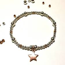 sterling silver star bracelet images Sterling silver rose gold star bracelet by flawless jpg