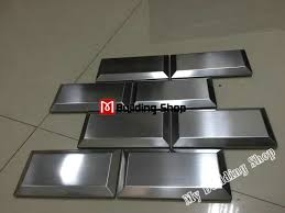 3d metal wall tile backsplash smmt077 silver metal mosaic