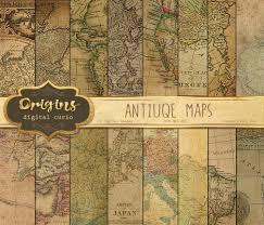 Vintage Map Antique Maps Digital Paper Vintage Maps World Map Scrapbook