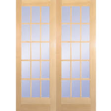 awesome french doors interior home depot 15 lite clear wood pine
