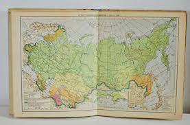 Ussr Map Vintage Maps Geographic Atlas Of Ussr Soviet Union Cccp 1949