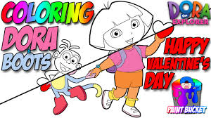 dora the explorer coloring pages nickelodeon nick jr coloring