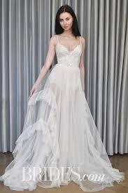 Rita Vinieris Wedding Dresses Designer by Alyne By Rita Vinieris Classy Flared Portrait Collar Wedding Gown