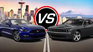 mustang vs dodge challenger 2016 ford mustang gt vs dodge challenger r t spec comparison