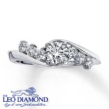 leo diamond ring leo engagement ring 3 4 ct tw diamonds 14k white gold