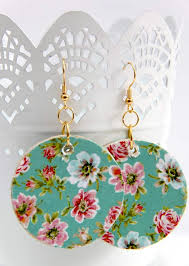 decoupage earrings decoupage floral earrings for mod podge rocks