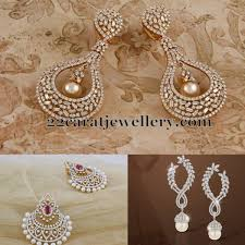 heavy diamond earrings heavy diamond chandbalis diamond and indian jewelry