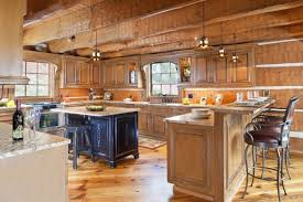 Log Home Kitchen Cabinets - lovely decorating log homes ideas using wooden kitchen cabinets