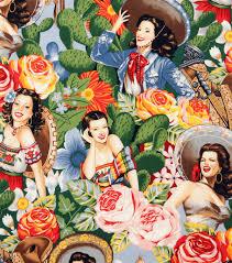 alexander henry cotton fabric las senoritas bright joann