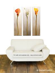 Calla Lily Home Decor Landscape Painting Calla Lily Flowes Home Decor Floral Art 7627