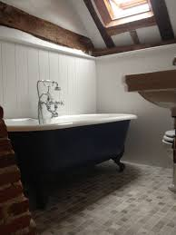 farrow and bathroom ideas bath painted in hague blue panels painted in wevet both