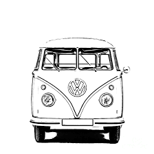 volkswagen old van drawing pop art photographs fine art america