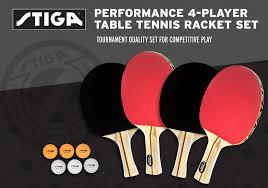 stiga titan table tennis racket amazon com stiga performance 4 player table tennis racket set