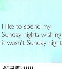 Sunday Night Meme - like to spend my sunday nights wishing it wasn t sunday night