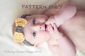 crochet headbands for babies instant pdf baby crochet bow headband pattern