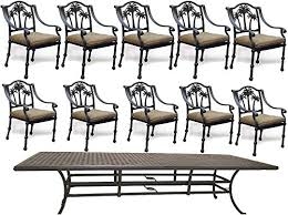 Nassau Outdoor Furniture by Palm Tree Nassau Pn035426205494 11 Piece Outdoor Dining Set Table