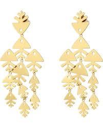 Chandelier Gold Earrings Amazing Deal On Tory Burch Metal Fish Chandelier Earrings Tory