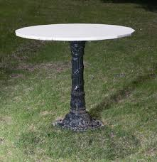 Cast Iron Pedestal Table Base by American Black Painted Relief Molded Cast Iron Garden Table Base