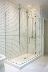 Shower Door Guard 90 Degree Corner Frameless Enclosure With Glass Bridge Using