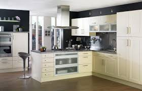 kitchen style cream cabinet chrome handles black eclectic kitchen