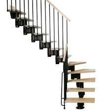 Home Depot Stair Railings Interior by Arke Kompact 35 In Black Modular Staircase