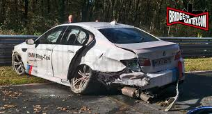 bmw m5 u0027ring taxi slips into a crash w video carscoops com