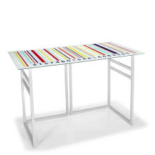 mobilier de bureau d occasion bureaux sièges accessoires petit bureau en verre avec tréteaux multicolore les bureaux