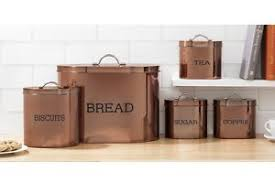 copper canisters kitchen 5 pc bronze copper kitchen storage set bread bin tea coffee cans