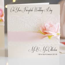 Card For Invitation Or Congratulation With Red Rose In Vintage Lace And Rose Wedding Congratulations Card By Made With Love