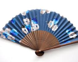 held folding fans modern fan etsy