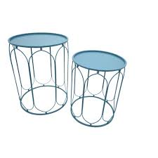 Drum Accent Table by Three Hands Copper Metal Accent Table 76283 The Home Depot