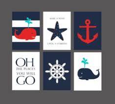 Sailboat Decor For Nursery Navy Nautical Nursery Wall Canvas Or Print Sailboat Whale