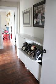 Hallway Shoe Storage Cabinet Hallway Shoe Storage Solution Bright Green Door