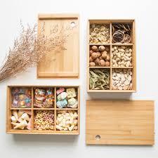 fruit boxes creative european bamboo storage compartment box tea tray fruit